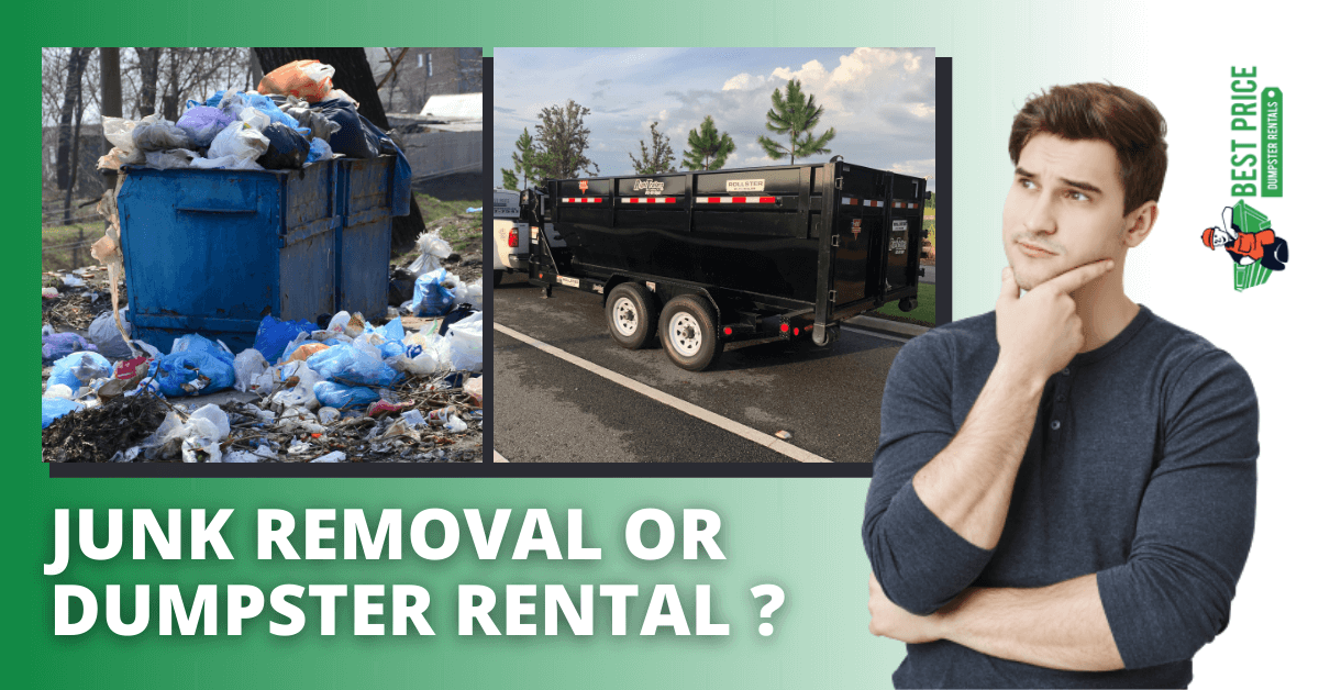 """Featured image for """"Should You Rent a Dumpster or Hire a Junk Removal Service?"""""""